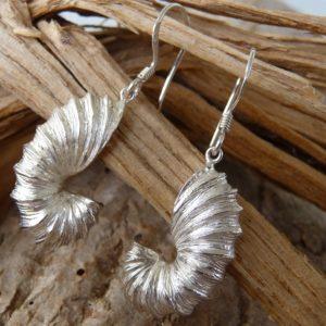 Schmuck Ohrringe Schnecke Silber