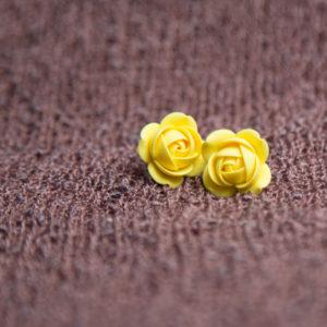 Ohrstecker Fimo gelb Blume