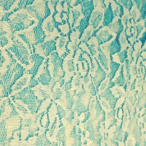 Spitze Blume aqua hellblau