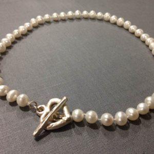 Halskette Perlen Herz