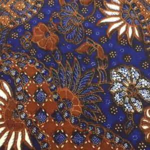Afrikanische Baumwolle Muster Motiv blau