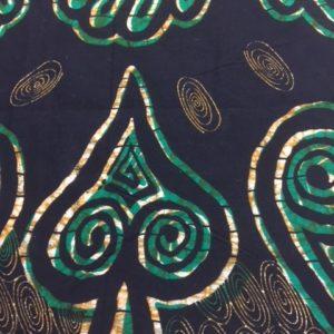Afrikanische Baumwolle blau Muster