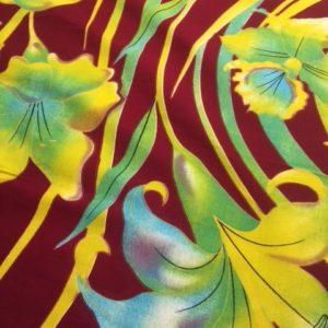 Afrikanische Baumwolle Motiv Blume gelb