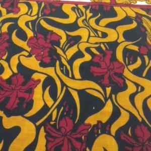 Afrikanische Baumwolle Muster gelb rot