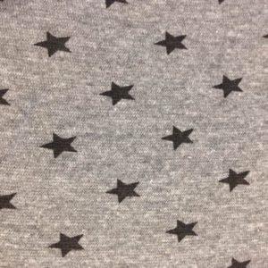 Bündchenstoff Börtlistoff Sterne grau