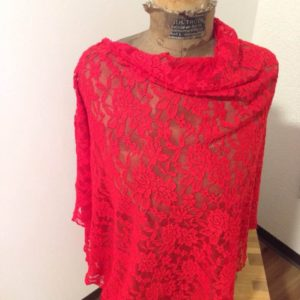 Sommerponcho rot