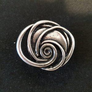 Magnet Brosche Silber Rose
