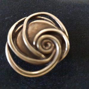 Magnet Brosche Kupfer Rose