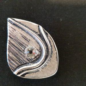 Magnet Brosche Silber Blatt