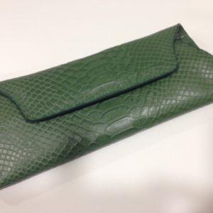 Portemonnaie grün Kroko