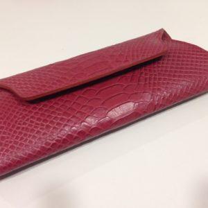 Portemonnaie Kroko rot