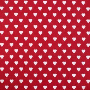 Baumwolle Herz Herzchen rot weiss Landhaus