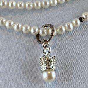 Perlenkette Silber Anhänger