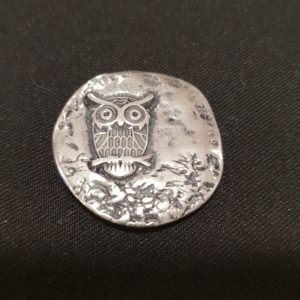 Magnet Brosche Eule Silber