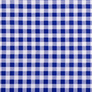 Karo blau Stoff Baumwolle