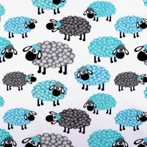 Baumwolle Schaf blau