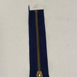 Reissverschluss 16cm blau