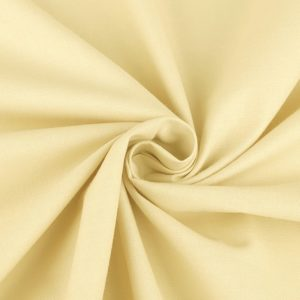 stoff baumwolle uni vanille vanile