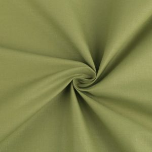 stoff baumwolle grün olive uni