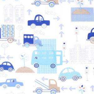 Baumwolle Kinderstoff Auto