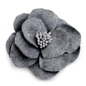 Wolle Blume Broche Annäher