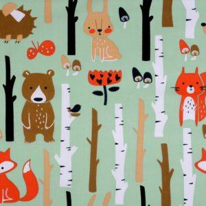 Baumwolle Kinderstoff Fuchs Wald