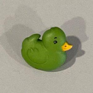 Knopf Ente grün