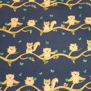 Jersey Baum Tiere blau