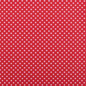 Baumwolle-Rot-Weiss-Dots-Punkte