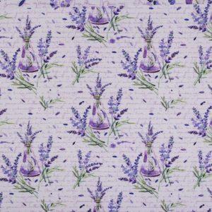 Dekostoff-Baumwolle- Polyester-Lavendel