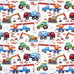 Baumwolle-Baustelle-Lastwagen-Bagger-Traktor