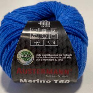 Merino Schurwolle blau