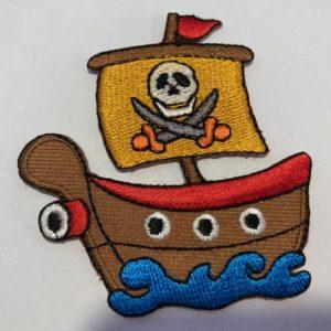 Aufnäher-Patch-Piratenschiff