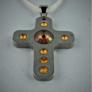 Swarovski Kreuz orange