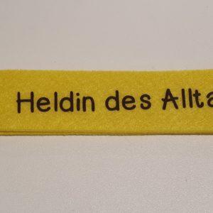 Schlüsselanhänger Filz gelb