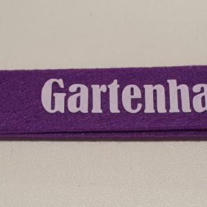 Schlüsselanhänger Filz violett