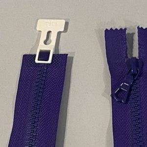 Reissverschluss violett lila