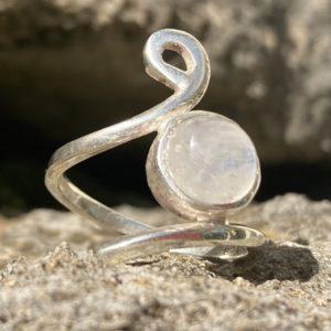 Silberring Unikat Silber 925 Rosenquarz
