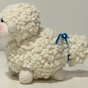 Kuscheltier Schaf weiss