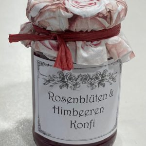 Rosenblüten Himbeer Konfi