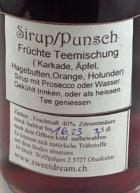 Sirup Punsch Früchte