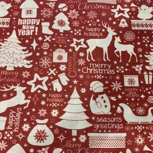 Dekostoff Weihnachten